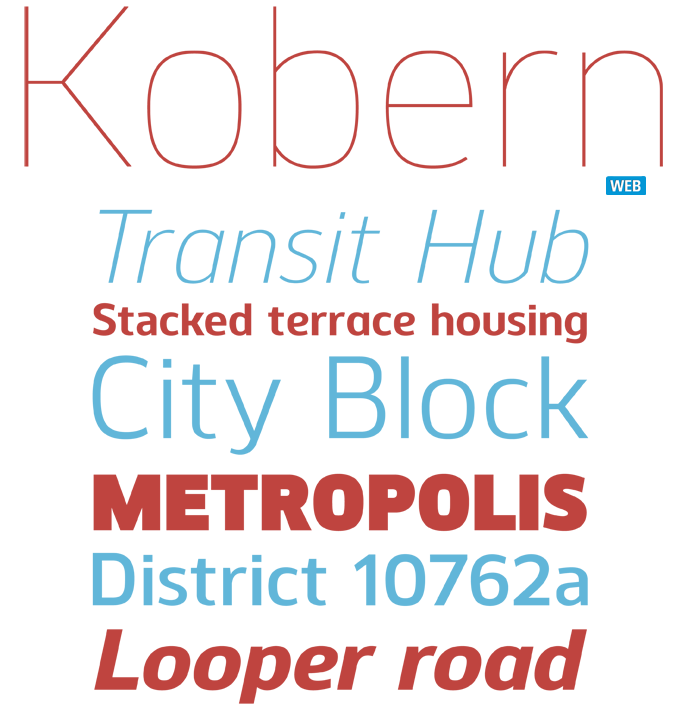 Kobern font sample