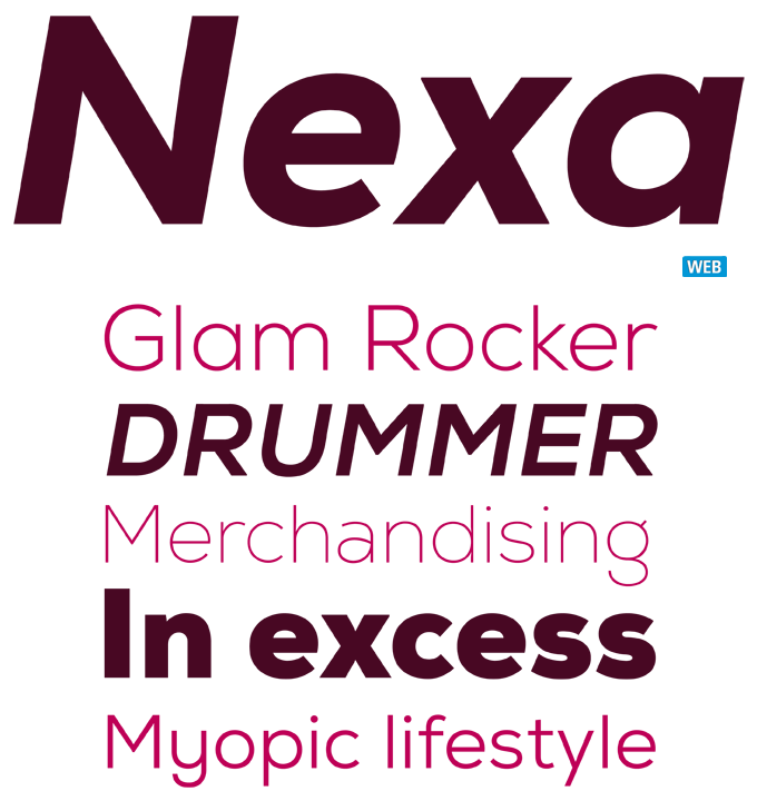 Nexa font sample