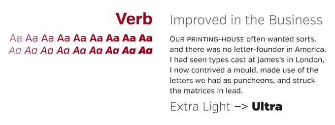 Verb font sample