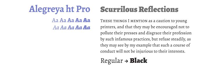Alegreya font sample