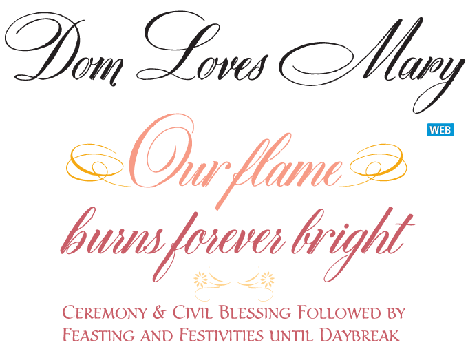Dom Loves Mary font sample
