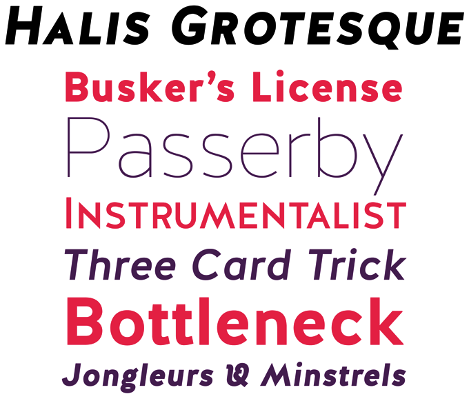 Halis Grotesque font sample