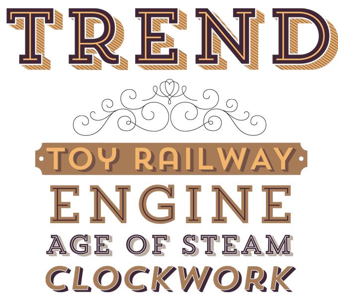 Trend font sample