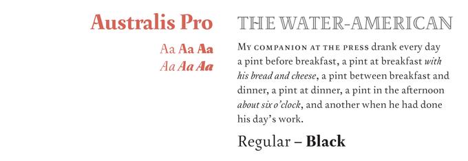 Australis Pro font sample
