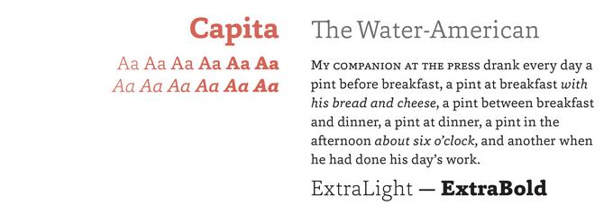 Capita font sample