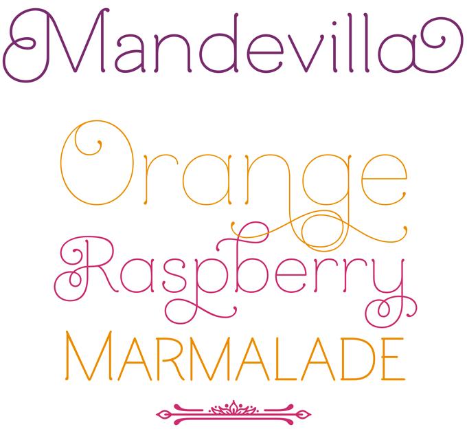 Mandevilla font sample