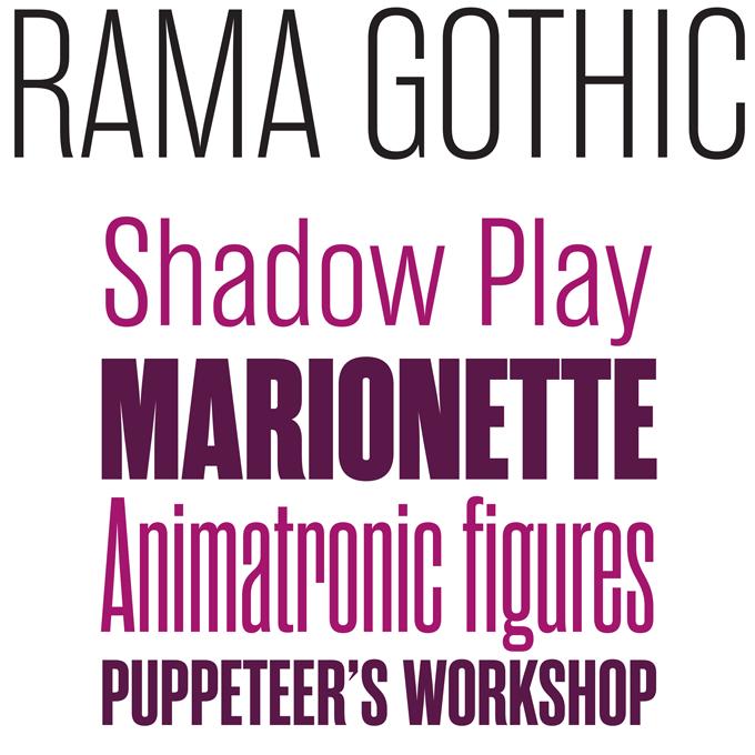 Rama Gothic font sample
