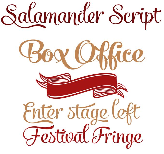 Salamander font sample