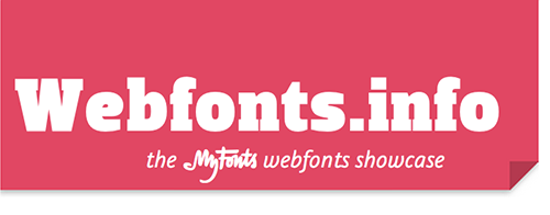Webfonts.info header graphic