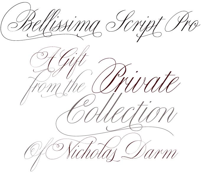 Bellissima Script font sample
