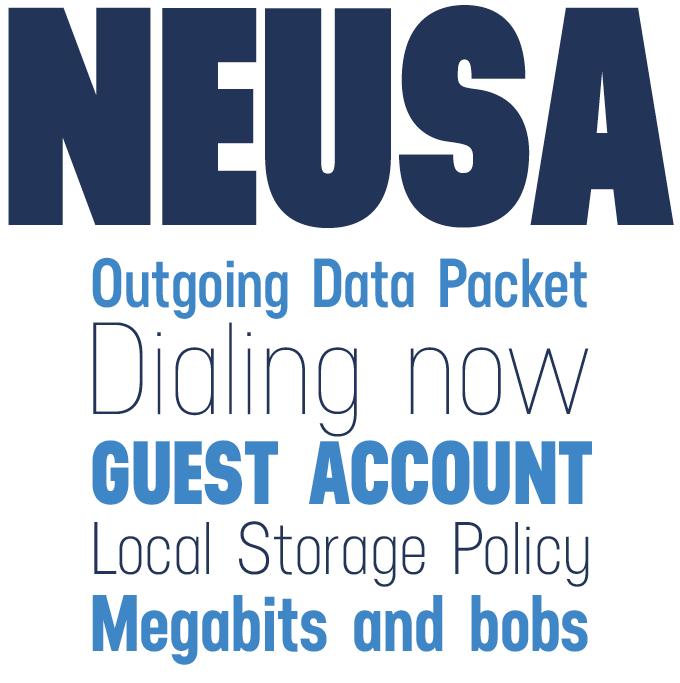 Neusa font sample