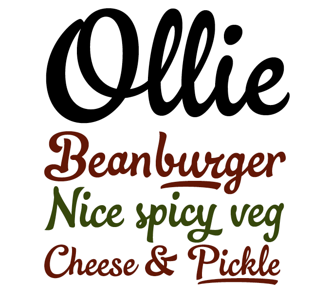 Ollie font sample