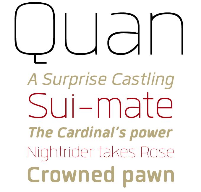 Quan font sample