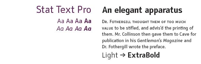 Stat Text Pro font sample