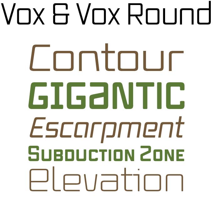 Vox font sample