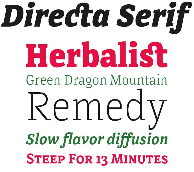 Directa Serif font sample