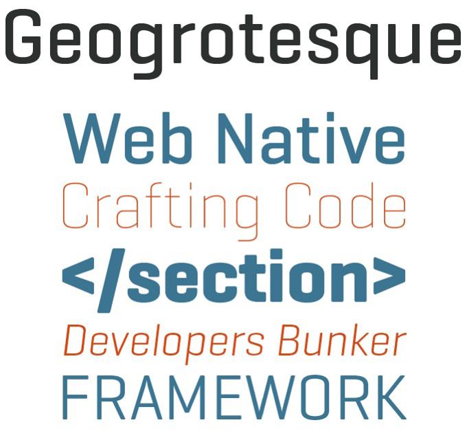 Geogrotesque font sample