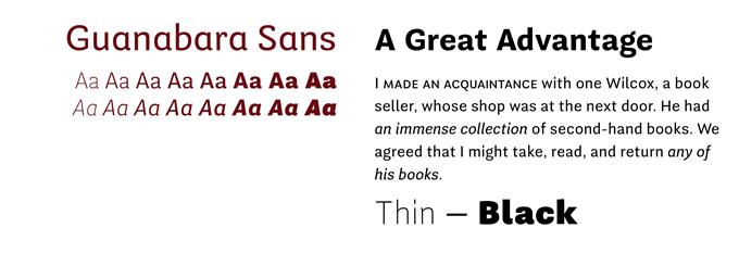 Guanabala Sans font sample