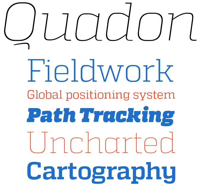 Quadon font sample
