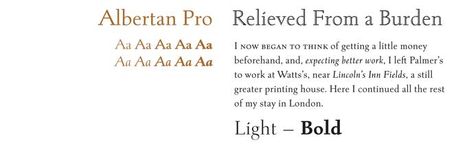 Albertan font sample