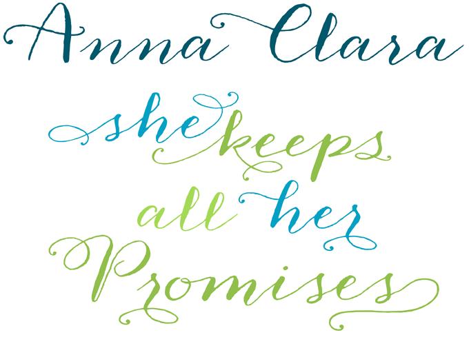 Anna Clara font sample