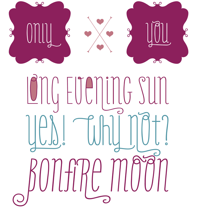 Only You Pro font sample