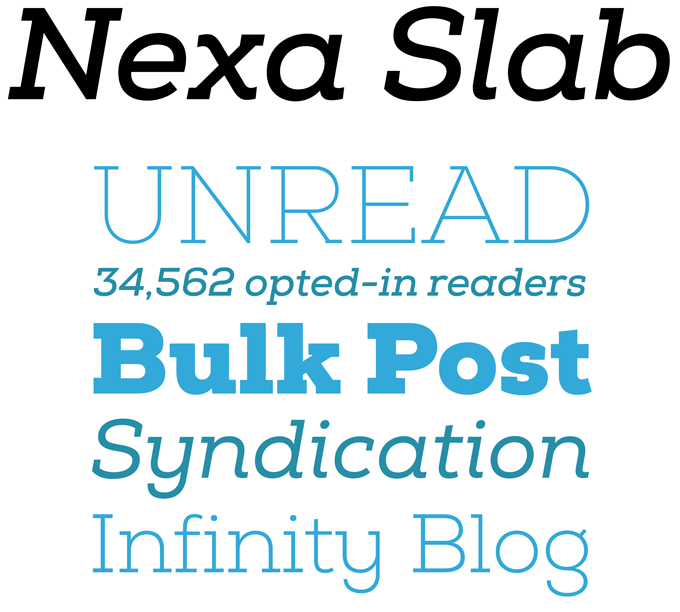 Nexa Slab font sample