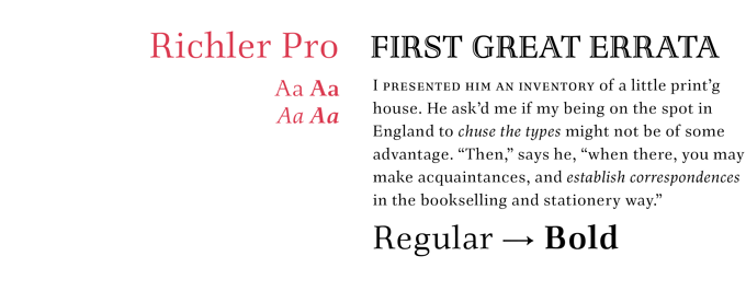 Richler font sample
