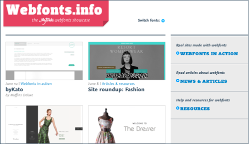 Homepage of Webfonts.info
