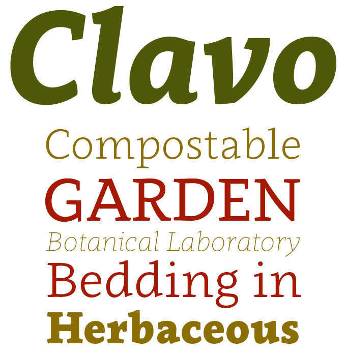 Clavo font sample