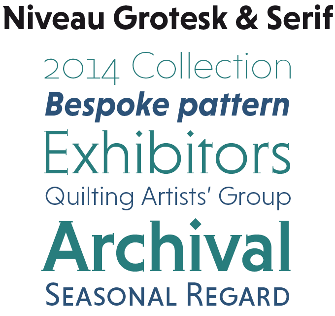 Niveau Grotesk and Serif font sample