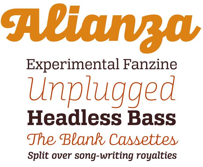 Alianza font sample