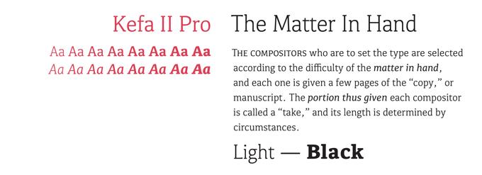 Kefa II Pro font sample