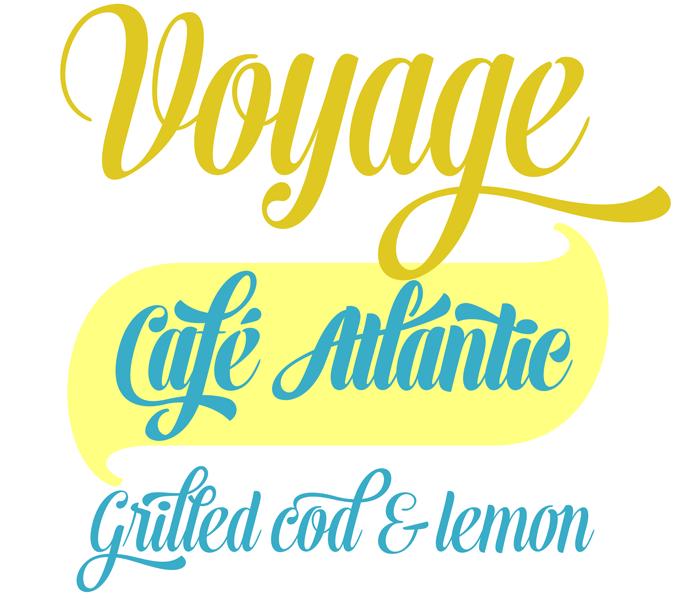 Voyage font sample