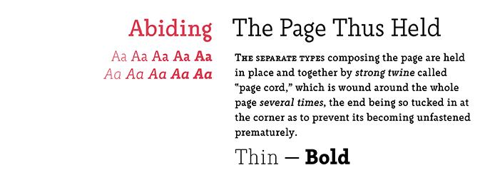 Abiding font sample