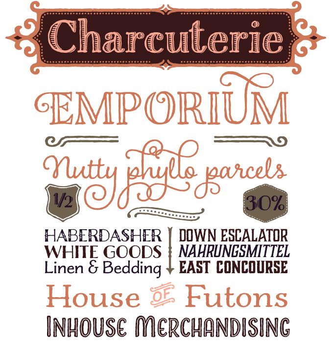 Charcuterie font sample