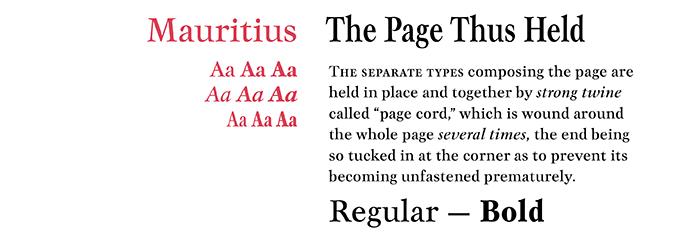 Mauritius font sample
