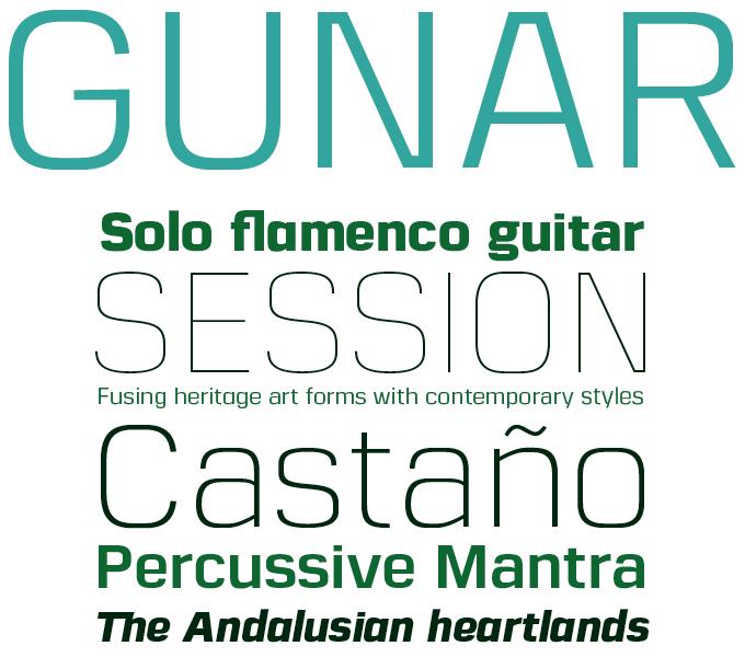 Gunar font sample