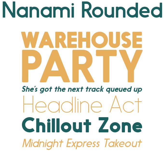 Nanami Rounded font sample
