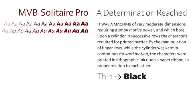 Solitaire Pro font sample
