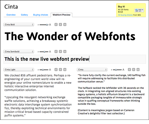 Webfont Previews screenshot