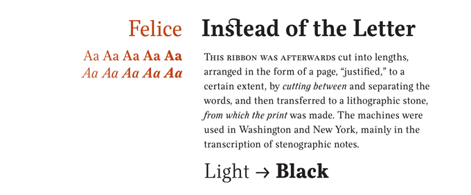Felice font sample