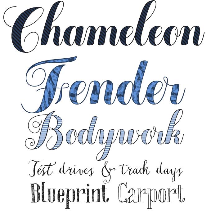 Chameleon font sample