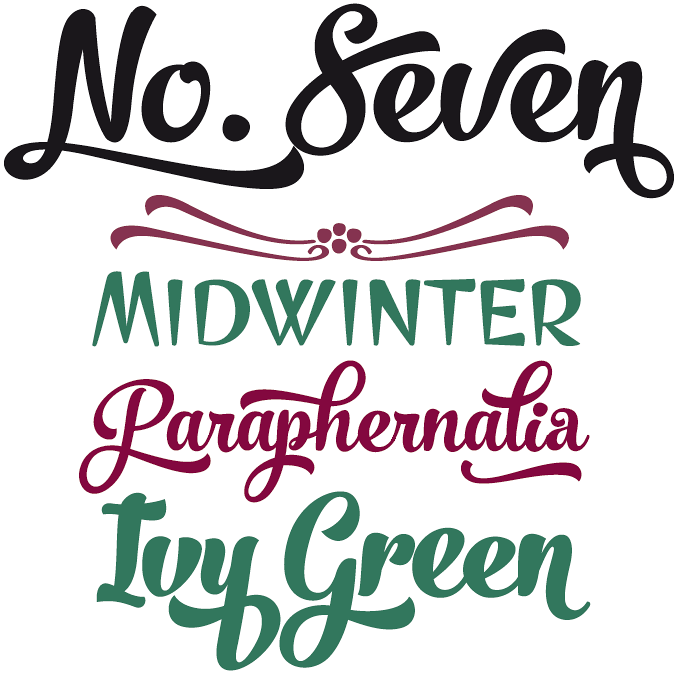 No. Seven font sample