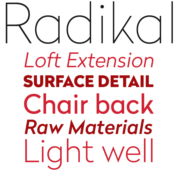 Radikal font sample