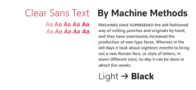 Clear Sans Text font sample