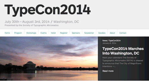 TypeCon 2014 announcement