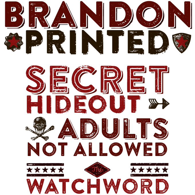 Brandon Printed font sample