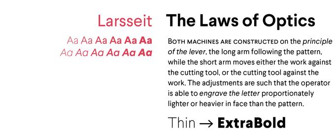 Larsseit text font sample