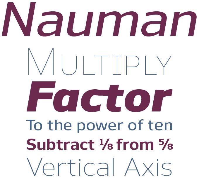 Nauman font sample